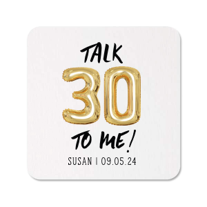 Our beautiful custom White Photo/Full Color Square Coaster with Matte Black Ink Digital Print Colors can be customized to complement every last detail of your party.
