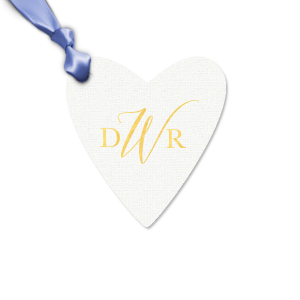 Our beautiful custom Linen White Large Scalloped Gift Tag with Shiny 18 Kt Gold Foil will add that special attention to detail that cannot be overlooked.