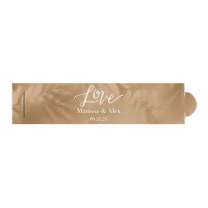 "Love Party Favor - White - Napkin Ring - Personalized - Set of 50 - 6 x 1.5"""" by ForYourParty.com"