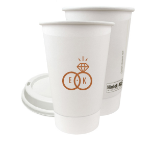 Our beautiful custom Satin Copper Penny 8 oz Paper Coffee Cup with Satin Copper Penny Screen Print has a Wedding Rings 2 graphic and is good for use in Wedding themed parties and can be customized to complement every last detail of your party.