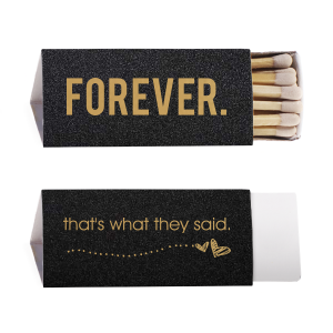 Our custom Glitter Black Lipstick Matchbox with Satin 18 Kt. Gold Foil Color has a Sketchy Heart Line graphic and is good for use in Frames themed parties and will impress guests like no other. Make this party unforgettable.