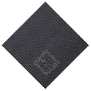 Our custom White Linen Like Cocktail Napkin with Shiny 18 Kt Gold Foil has a Linear Floral Frame graphic and is good for use in Frames, Floral, Trendy themed parties and couldn't be more perfect. It's time to show off your impeccable taste.