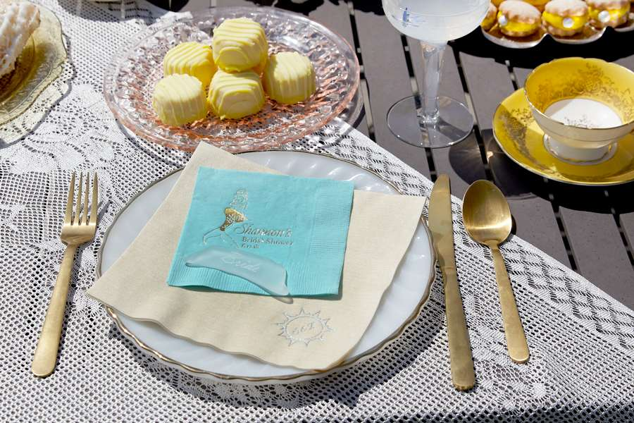 mermaid bridal shower tablescape