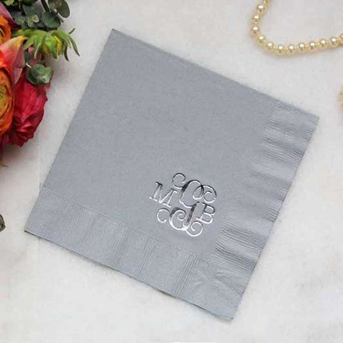 personalized luncheon brunch napkins
