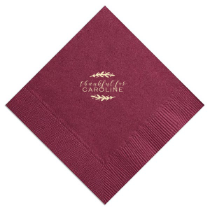 Custom Watercolor Sangria Cocktail Napkin with Matte Ivory Foil will add that special attention to detail that cannot be overlooked.