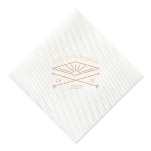 This Marble Taupe Diamond Napkin design features a our lovely diamond and double arrow graphic with your names and special date. Whether for your engagement party, wedding or rehearsal dinner personalize this napkin for a memorable touch.