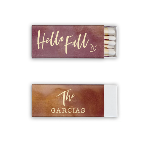 Custom Watercolor Sangria Candle Matchbox with Matte Ivory Foil are a must-have for your next event—whatever the celebration!
