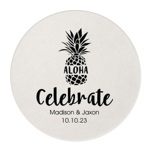 Our beautiful custom White Square Coaster with Shiny Kiwi / Lime Foil Color has a Aloha graphic and is good for use in Words themed parties and will give your party the personalized touch every host desires.