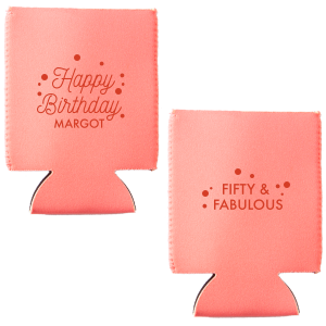 Happy Birthday Confetti Can Cooler