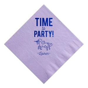 Party Unicorn Napkin