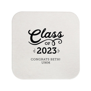Our beautiful custom White Round Coaster with Shiny Turquoise Foil are a must-have for your next event—whatever the celebration!