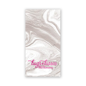Custom Marble Taupe Party Pocket with Shiny Fuchsia Foil are a must-have for your next event—whatever the celebration!