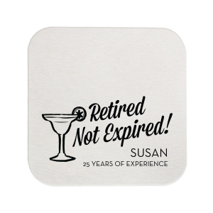 Our custom White Square Coaster with Shiny Kiwi / Lime Foil has a Margarita graphic and is good for use in Drinks themed parties and will add that special attention to detail that cannot be overlooked.