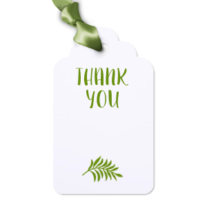 The ever-popular Natural Frost White Wine Gift Tag with Shiny Kiwi / Lime Foil Color has a Leaves graphic and is good for use in Floral themed parties and can be customized to complement every last detail of your party.