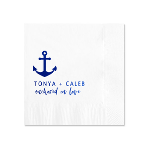 Anchored In Love Napkin