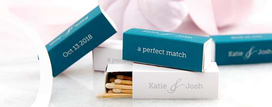Custom matches for your wedding, shower or event