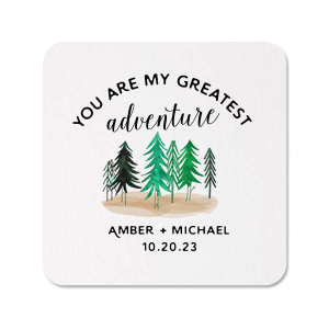 ForYourParty's personalized Photo/Full Color Coaster with Matte Black Ink Digital Print Colors will give your party the personalized touch every host desires.