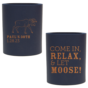 Birthday Moose Can Cooler