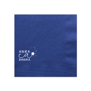 Personalized Sky Blue Luncheon Napkin with Shiny Turquoise Foil can't be beat. Showcase your style in every detail of your party's theme!