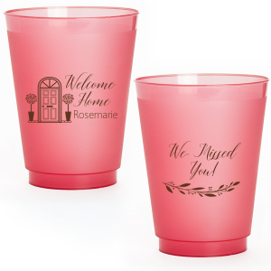 The ever-popular Matte Fuchsia Ink 12 oz Frost Flex Cup with Matte Fuchsia Ink Screen Print has a Door graphic and a Branch 4 graphic and is good for use in Floral themed parties and will add that special attention to detail that cannot be overlooked.