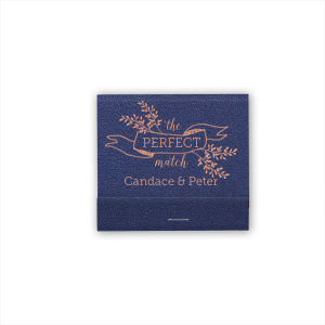 For Your Party's chic Navy Shimmer 30 Strike Matchbook with Shiny Sky Blue Foil has a Twig Banner graphic and is good for use in Wedding and Floral themed parties and will add that special attention to detail that cannot be overlooked.