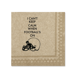 Keep Calm Football Napkin