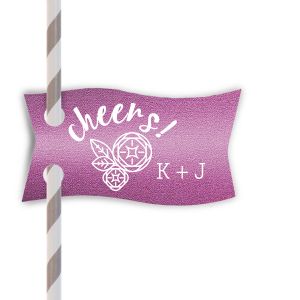 "Have all your guests saying ""Cheers!"" with these personalized stir sticks. Our adorable Peony graphic will be a hit at your bridal shower, engagement party or wedding reception. Choose colors to match your theme and add your names for a personal touch guests will love."