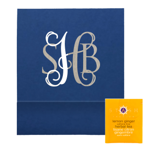"Elegant Monogram Favor - Tea Favor - Personalized - Set of 50 - 2.75 x 2.375"""" by ForYourParty.com"