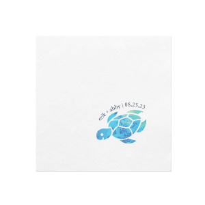 Our beautiful custom White Borderless Photo/Full Color Cocktail Napkin with Matte Navy Ink Digital Print Colors will add that special attention to detail that cannot be overlooked.