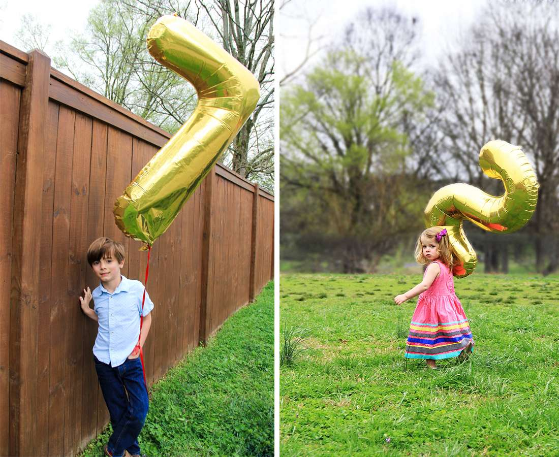gold number balloons for birthdays