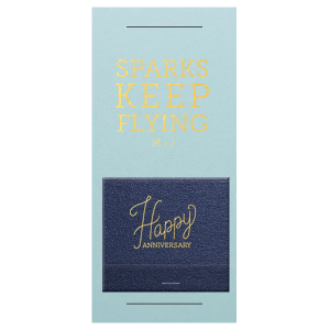 Personalized Poptone Sky Blue Tea Favor with Shiny 18 Kt Gold Foil Color has a Happy Anniversary 2 graphic and is good for use in Words themed parties and will make your guests swoon. Personalize your party's theme today.