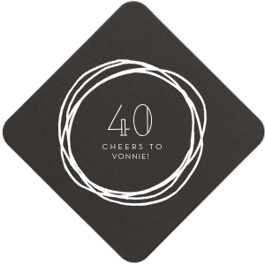 ForYourParty's elegant White Round Coaster with Matte Navy Foil has a Circle Doodle Frame graphic and is good for use in Frames themed parties and couldn't be more perfect. It's time to show off your impeccable taste.