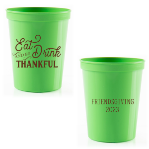 Our beautiful custom Lime 16 oz Stadium Cup with Matte Chocolate Ink Cup Ink Colors couldn't be more perfect. It's time to show off your impeccable taste.