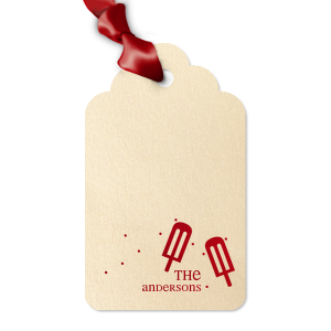 The ever-popular Stardream White Arch Gift Tag with Shiny Convertible Red Foil has a Popsicles graphic and is good for use in Food, Kid Birthday, Birthday themed parties and can be customized to complement every last detail of your party.