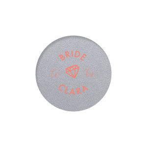 The ever-popular Classic Crest White Round Label with Matte Light Coral Ink Digital Print Colors has a Diamond graphic and is good for use in Wedding, Bridal Shower themed parties and will add that special attention to detail that cannot be overlooked.