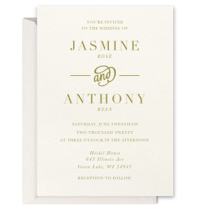 Modern Flourish Foil Invitation