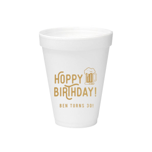 Hoppy Birthday Foam Cup