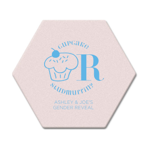 Our personalized Blush with Kraft back Nouveau Coaster with Matte Azure Foil Color has a Kid Cupcake graphic and is good for use in Kid Birthday, Food, Birthday themed parties and will impress guests like no other. Make this party unforgettable.