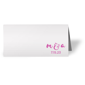 Our custom Natural Frost White Euro Place Card with Satin Fuchsia Foil will give your party the personalized touch every host desires.