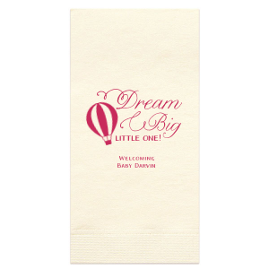 ForYourParty's chic Watercolor Rose Cocktail Napkin with Matte Fuchsia Foil has a Hot Air Balloon 2 graphic and is good for use in Travel, Baby Shower themed parties and couldn't be more perfect. It's time to show off your impeccable taste.