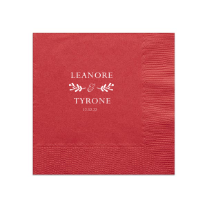 Romantic Names Napkin