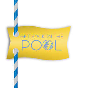Personalized Poptone Yellow Wave Straw Tag with Satin French Blue Foil will add that special attention to detail that cannot be overlooked.