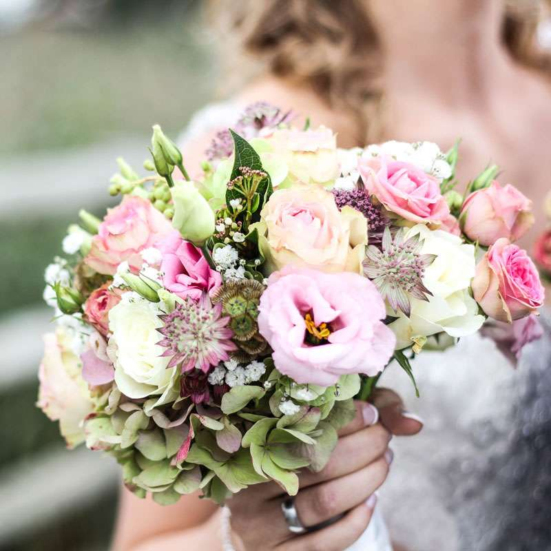 Soft Pastel Floral Bouquet