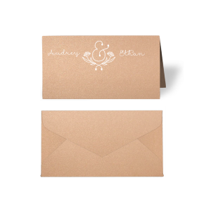 Floral Ampersand Place Card