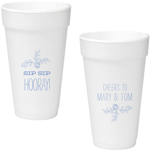 Our custom Matte Periwinkle Ink 12 oz Styrofoam Cup with Matte Periwinkle Ink Cup Ink Colors has a Rose Accent 2 graphic and a Rose Accent 2 graphic and is good for use in Accents, Floral, Wedding themed parties and are a must-have for your next event—whatever the celebration!