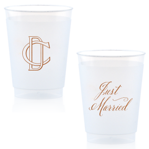 ForYourParty's chic Copper Ink 14 oz Frost Flex Cup with Copper Ink Cup Ink Colors will give your party the personalized touch every host desires.