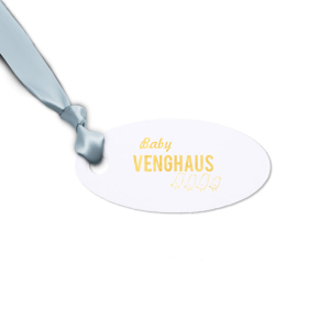 Our custom Natural Frost White Oval Gift Tag with Shiny 18 Kt Gold Foil Color has a Chicks graphic and is good for use in Baby, Kid, Animal themed parties and will impress guests like no other. Make this party unforgettable.