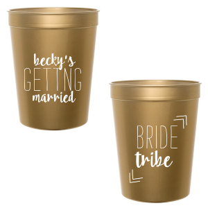 Our custom Gold 16 oz Stadium Cup with Matte White Ink Cup Ink Colors will add that special attention to detail that cannot be overlooked.