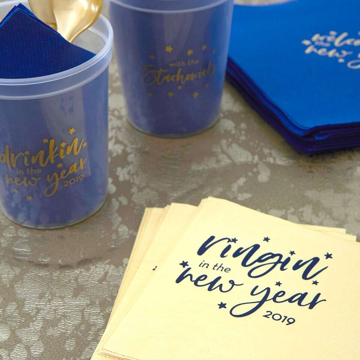 custom designed New Years party supplies