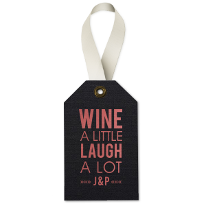 Modern Type Wine Tag - Wine Gift Tag - Personalized - Set of 35 - 2.625 x 4.125